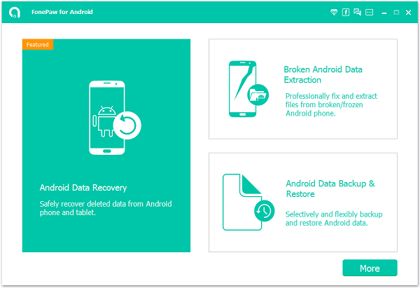 Connect to Android Data Recovery