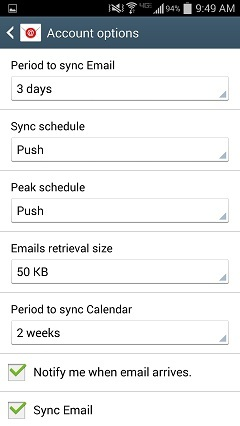 how to add exchange email accounjt to galaxy s4