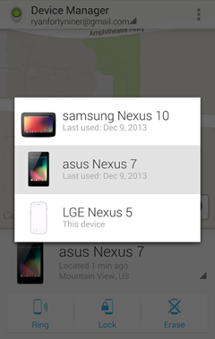 Change Devices Displayed