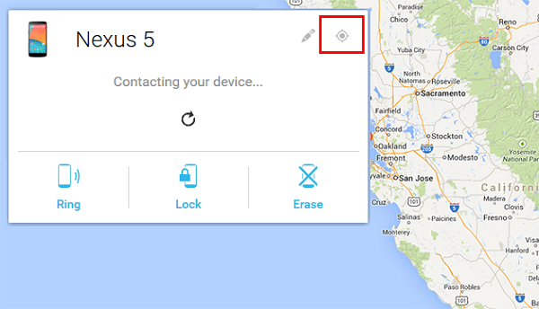 Contact Android with Android Device Manager
