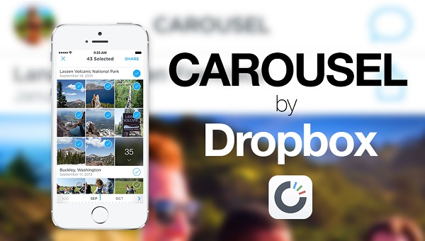 Use Carousel to Upload Photos to Dropbox