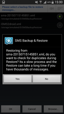 Confirm to Restore