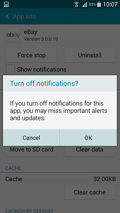 Confirm to Turn Off Notification