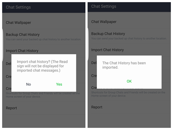 LINE Chat History