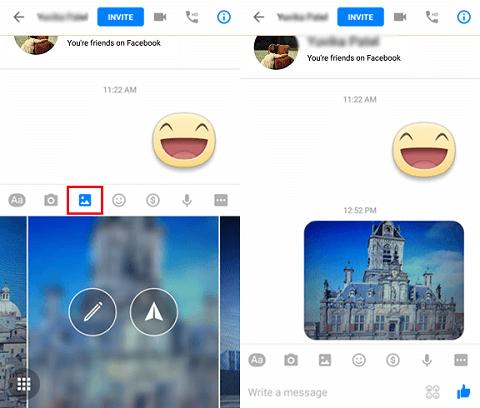 Send Photos with Facebook Messenger