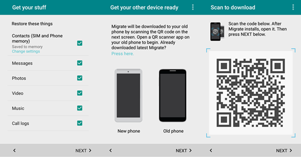 Migrate Data between Moto G to Moto X