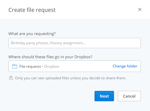 How to Share or Request Files on Dropbox
