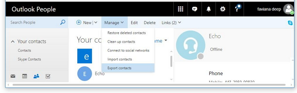 Export Winphone Contacts