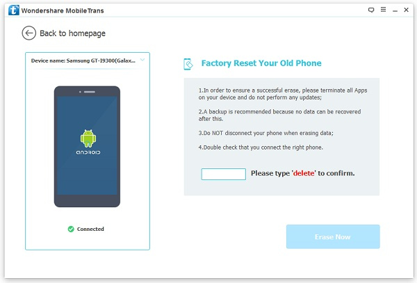 Permanently Erase Your Old Phone