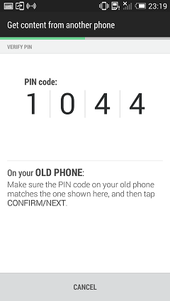 PIN Code on HTC One