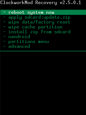 recovery system from backup android