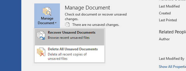 Recover Unsaved Word Document Files