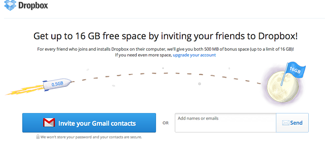 Refer Friends to Dropbox