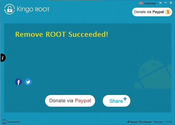 Finish Remove Root from Android