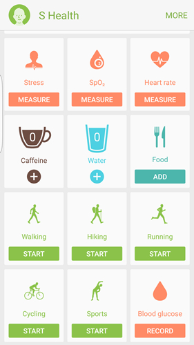 S Health Track Walking and Running