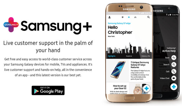 Samsung Plus Download form Google Play