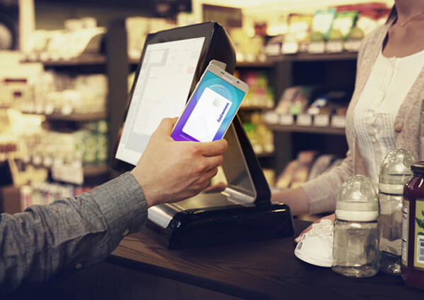 Samsung Pay Hover Over the Reader