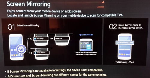 Screen Mirroring Waiting for Connecting