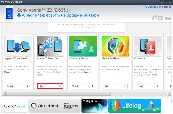 Xperia™ Transfer: Transfer iOS and Android Data to Sony Devices