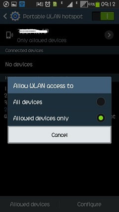 Allow Access to Devices