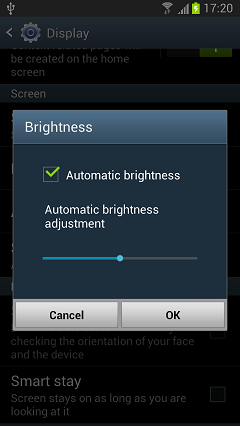 Adapt Brightness of Your Android