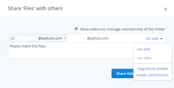 Share Folders with Others on Dropbox