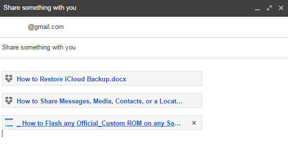 Link Dropbox Files and Insert Links to Gmail