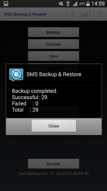 SMS Backup Complete