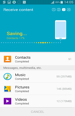 Smart Switch Transfer Data From Samsung Phones To Galaxy S6