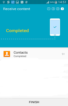 Contacts Transfer from S5 to S6 Complete