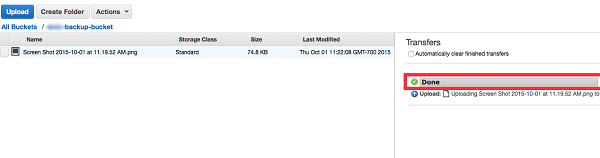 Upload Files Completed