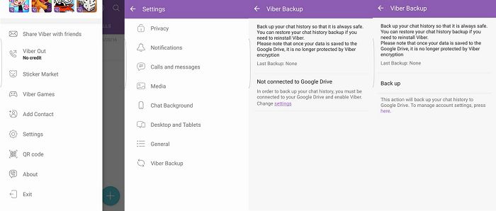 Viber Backup Locally