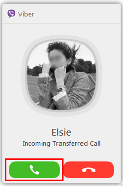 Accept Transferred Call from Android