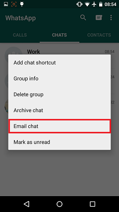Choose Email Chat