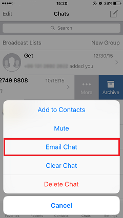 Select Email Chat