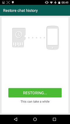 Restoring WhatsApp Chat