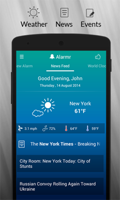 how to set song as alarm android