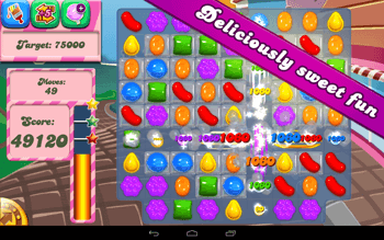 Main Interface of Candy Crush Saga on Android