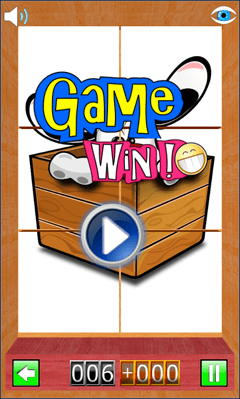 Game Win on Cartoon Puzzle
