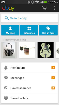 Search on eBay for Android