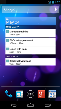 Save To-do List on Desktop on Android of Google Calendar