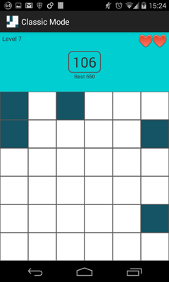 Level 7 of Classic Mode on Memory Tiles the Free Android Game