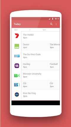 Android App of TV Guide Australia ON AIR