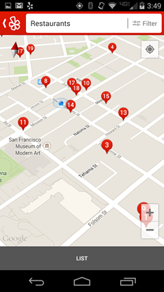Map of Restaurant near You on Yelp