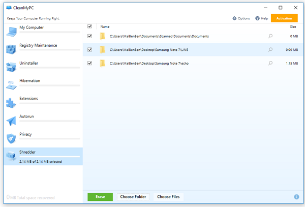 Securely Delete Unwanted Files