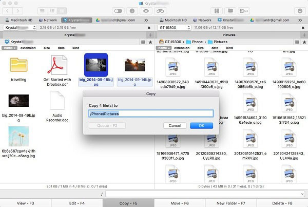 Transfer Dropbox Files to Android