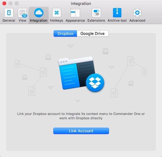 Integrate Dropbox with Android File Manager
