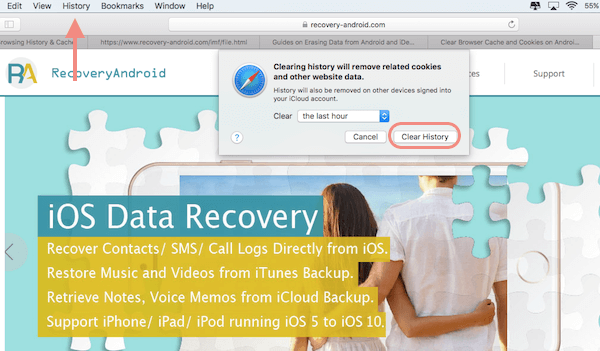Mac OS Sierra: Delete Browsing History & Cache