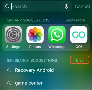 Delete Spotlight Search on iPhone