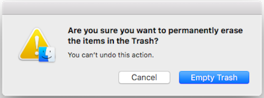 Empty Trash for iMac/MacBook Pro